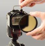 画像1: お得なセット販売!【ABディフューザー77mm】&【Catch Man R (キャッチマンR)】~世界初のクリップオンストロボ色温度変換フィルター~ (1)