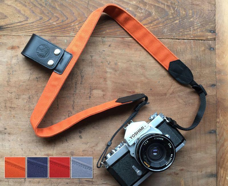 画像1: カメラストラップ 「カリーナストラップ」 キャンパス製(全4色) (1)